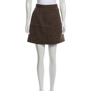 Celine wool plaid skirt